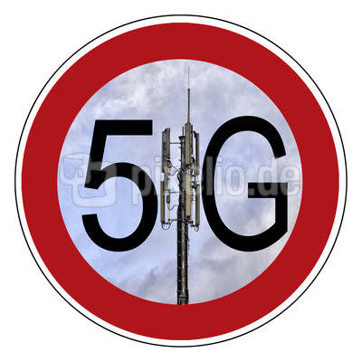 5G Netz - Mobilfunkantenne