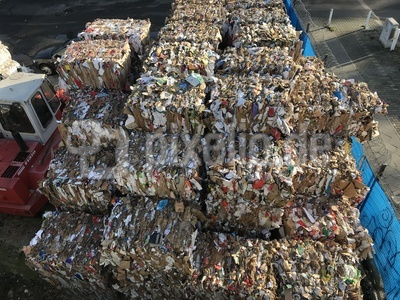 Recycling: Gebrauchte Kartonage