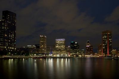Baltimore Hafen bei Nacht