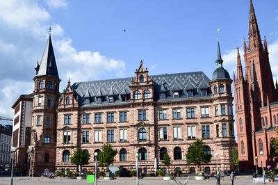 Neues Rathaus in Wiesbadene