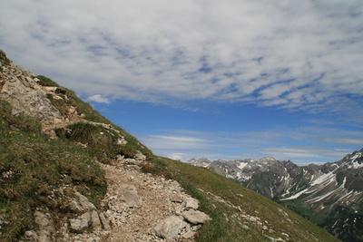 Wanderweg nahe der Mindelheimer Hütte