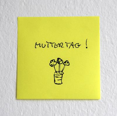Muttertag - Post-It, Klebezettel, Haftnotiz
