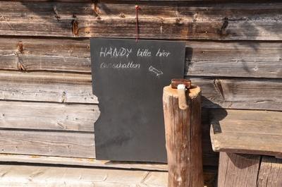 Tegernseer Hütte Handy ausschalten Hammer