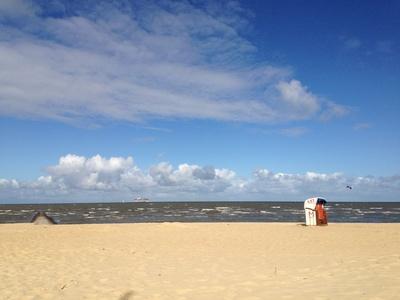 Cuxhaven Strand Strandkorb
