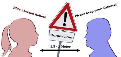 Coronavirus - Abstand halten!