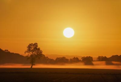 Sonnenaufgang über dem Delbrücker Land