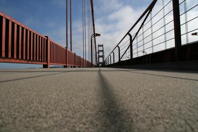 Fußgängerweg Golden Gate Bridge San Francisco