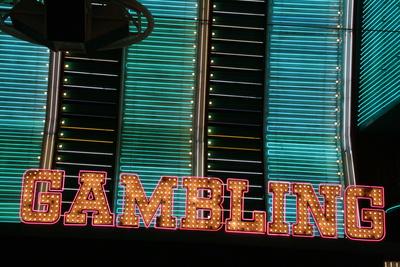 """Leuchtreklame """"Gambling"""" / Las Vegas"""