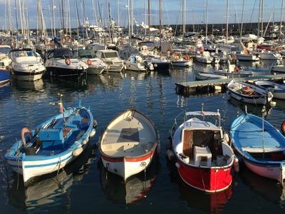 Fischerboote in Sanremo