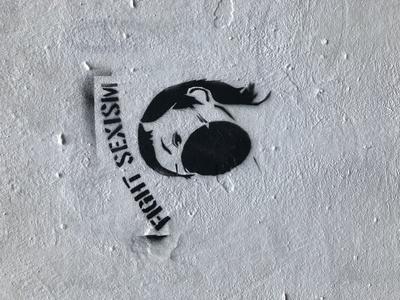 Graffiti: Fight Sexism. Gesehen in Berlin.
