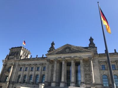 Reichstagsgebäude in Berlin Juni 2020