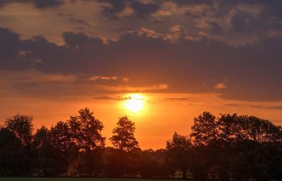 Sonnenaufgang im Delbrücker Land