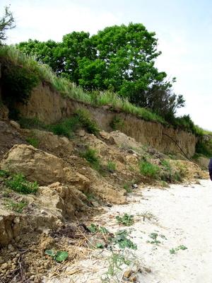 Steilküste in Stein
