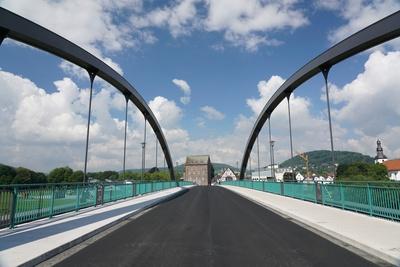 Neue Weserbrücke Beverungen - Lauenförde