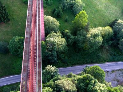 Straße, Schiene, Natur