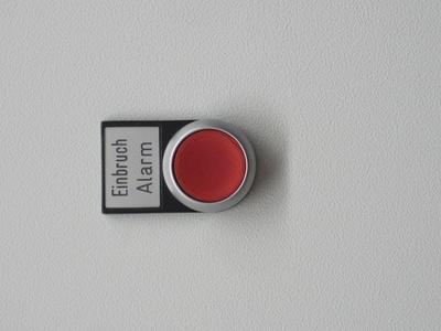 Einbruch-Alarm-Knopf / Foto: Alexander Hauk