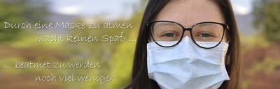 Durch eine Maske zu atmen …