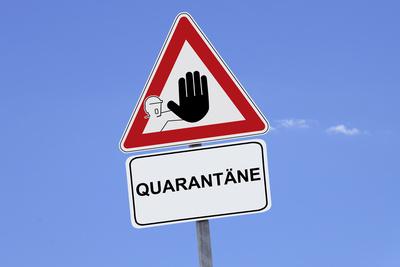 Quarantäne - Achtung – Coronavirus