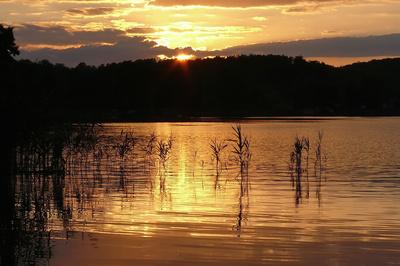 Sonnenuntergang in der Feldberger Seenlandschaft