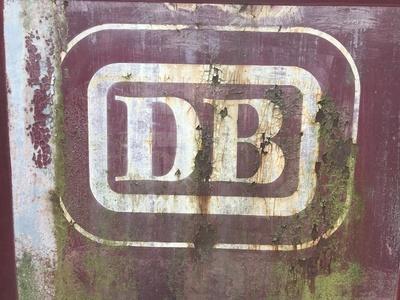 Deutsche Bundesbahn - Altes Logo mit Rost