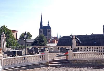 Quedlinburg  - morgens über der Stadt