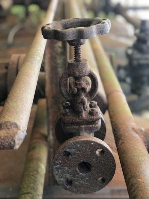 Verrostetes Rohr mit Hahn / Foto: Alexander Hauk