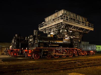 Nächtliche Eisenbahnromantik