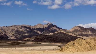 Die Wüste auf der Halbinsel Sinai