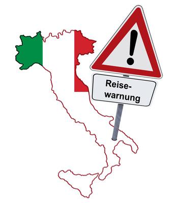 Reisewarnung für Italien