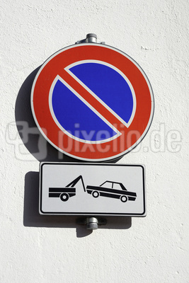 Parkverbot, Verbotsschild, parken verboten