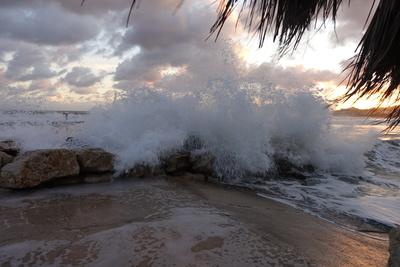 Sturm bei Sonnenuntergang
