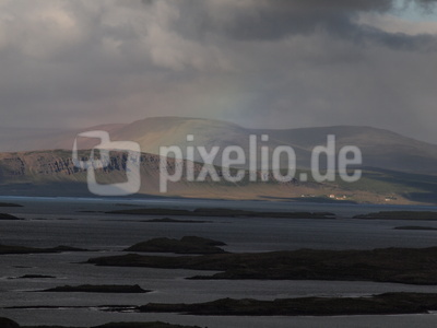 Regenbogen über Island, Juni 2019