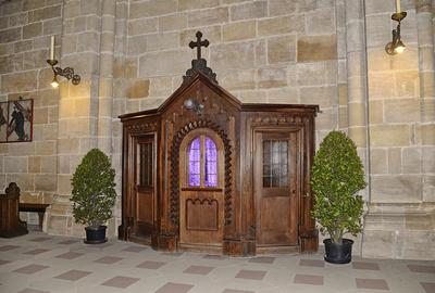 Beichtstuhl im Dom von Bamberg