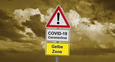 Corona-Ampel – gelbe Zone