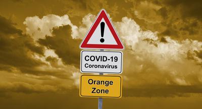 Corona-Ampel – orange Zone
