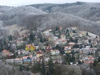 Winter über Wernigerode