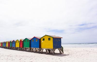 Badehäuser in Muizenberg (Kapstadt)