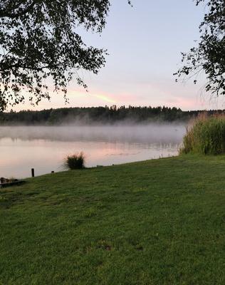 Morgennebel über'n See