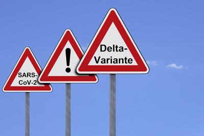 Warnschilder - Delta Variante